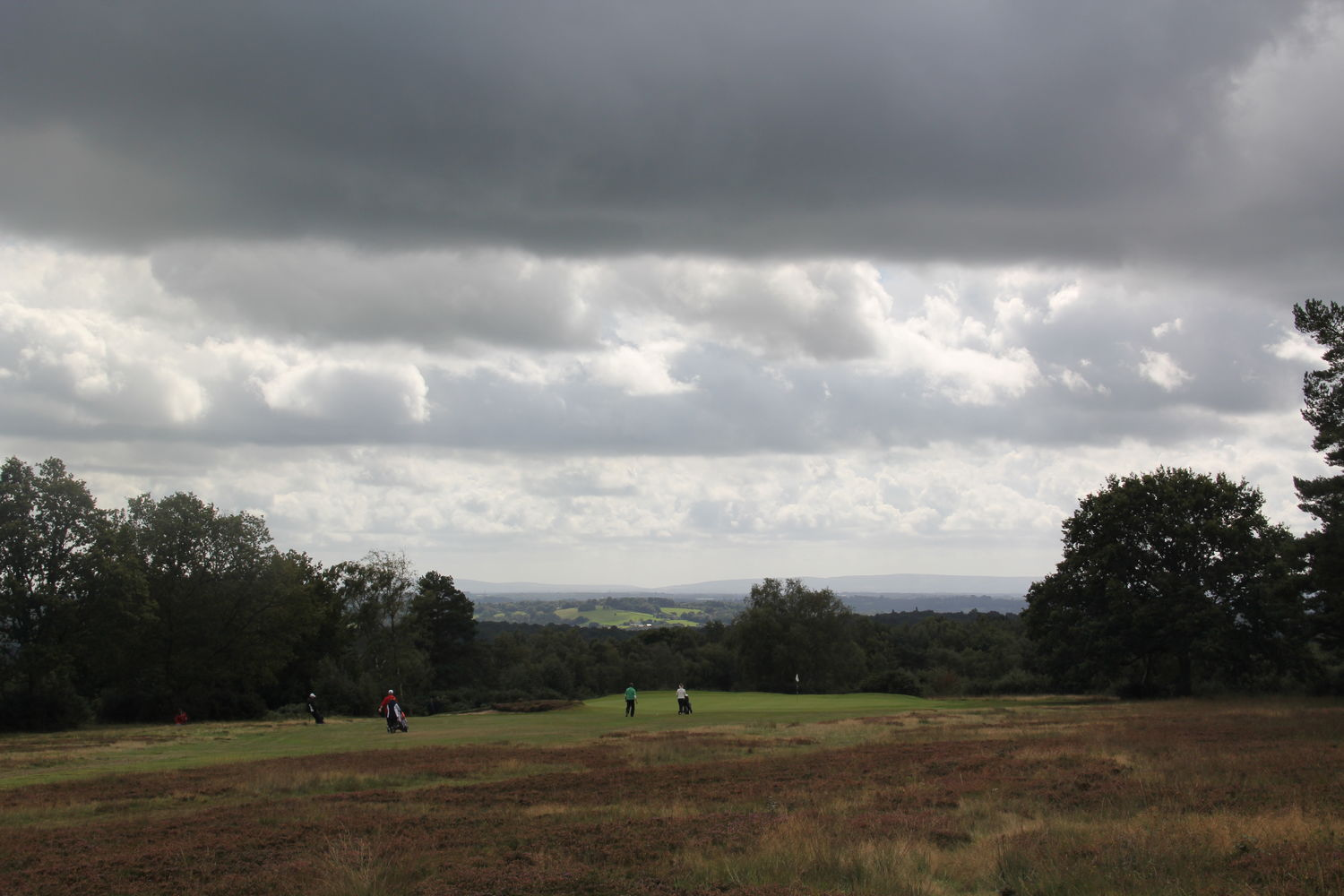 Threatening skies at the 14th
