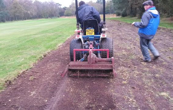 Scarifying to expose buried seed